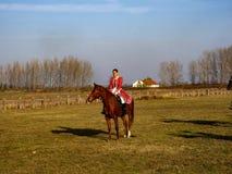demonstração da escola de equitação, Hortobagy, Hungria imagem de stock royalty free