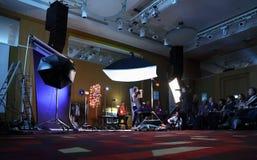 Demonstração da fotografia do estúdio Fotos de Stock Royalty Free