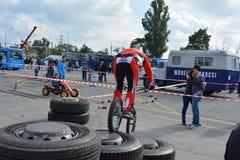 Demonstração 56 da habilidade da bicicleta Foto de Stock