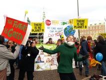 Demonstração da mudança de clima do UN Imagem de Stock