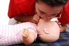 Demonstração da respiração artificial Foto de Stock Royalty Free
