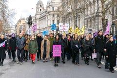 Demonstração da reunião da rebelião da extinção em Londres fotos de stock royalty free