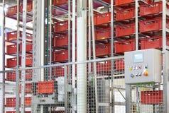 Demonstração de caixas distribuidoras e de recepções automatizadas Foto de Stock