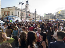 Demonstração de encontro à classe política em Madrid Fotos de Stock Royalty Free