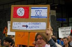 Demonstração de encontro ao ataque de Israel Fotografia de Stock Royalty Free