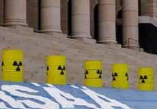 Demonstração de encontro aos centrais nucleares Fotografia de Stock