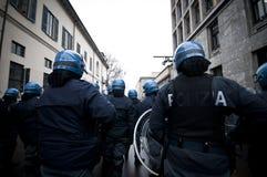 Demonstração de estudante em Milão dezembro 22, 2010 Fotografia de Stock