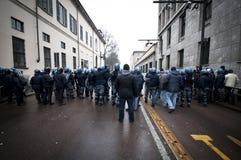 Demonstração de estudante em Milão dezembro 22, 2010 Fotos de Stock