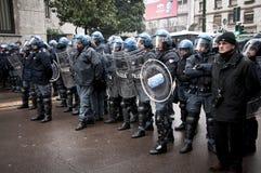 Demonstração de estudante em Milão dezembro 22, 2010 Imagens de Stock