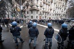 Demonstração de estudante em Milão dezembro 22, 2010 Foto de Stock