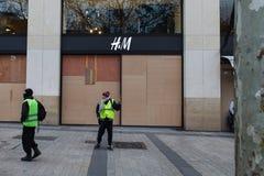 Demonstração 'de Gilets Jaunes em Paris, França imagens de stock