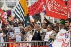 demonstração do Anti-presidente Imagem de Stock