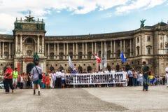 Demonstração do genocídio de Srebrenica Imagens de Stock Royalty Free