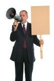Demonstração do homem de negócios fotografia de stock