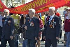 Demonstração do partido comunista da Federação Russa f Imagens de Stock Royalty Free