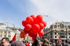 Demonstração do primeiro de maio Foto de Stock Royalty Free