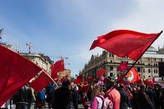 Demonstração do primeiro de maio Imagem de Stock Royalty Free