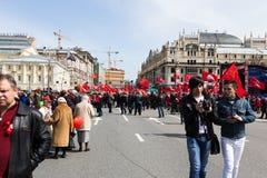 Demonstração do primeiro de maio Fotografia de Stock Royalty Free