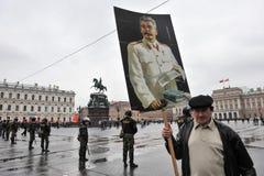 Demonstração do primeiro de maio em St Petersburg Foto de Stock Royalty Free