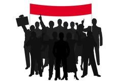 Demonstração dos povos da silhueta do grupo Imagens de Stock Royalty Free