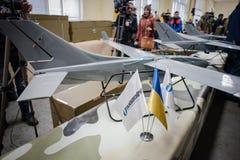 Demonstração dos primeiros zangões ucranianos da produção Fotos de Stock