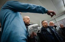 Demonstração dos primeiros zangões ucranianos da produção Fotografia de Stock Royalty Free