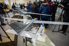Demonstração dos primeiros zangões ucranianos da produção Fotografia de Stock