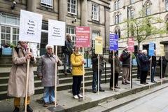 Demonstração dos Quacre, Manchester, Reino Unido Fotografia de Stock