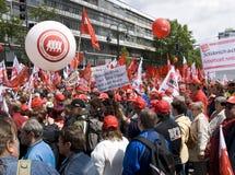 Demonstração em Berlim em 16 maio 2009 Fotografia de Stock Royalty Free