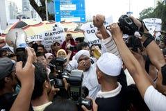 Demonstração em Kuala Lumpur, Malaysia Fotografia de Stock Royalty Free
