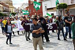 Demonstração em Marchena Sevilha 8 Fotografia de Stock Royalty Free