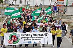 Demonstração em Marchena Sevilha 9 Fotografia de Stock Royalty Free