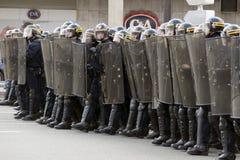 Demonstração em Paris de encontro à instrução política - 4 abril 200 Foto de Stock