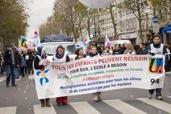 Demonstração em Paris, France - novembro 20o 2008 Imagens de Stock Royalty Free