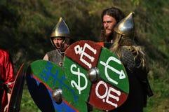Demonstração equestre em trajes tradicionais Imagens de Stock