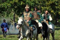 Demonstração equestre em trajes tradicionais Foto de Stock
