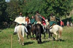 Demonstração equestre em trajes tradicionais Imagem de Stock