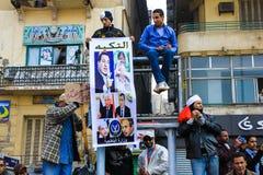 Demonstração maciça, o Cairo, Egito Imagens de Stock