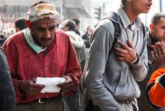 Demonstração maciça, o Cairo, Egito Imagens de Stock Royalty Free