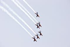 Demonstração militar do vôo na mostra de ar 2009 Imagens de Stock Royalty Free