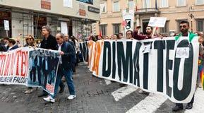 Demonstração nacional a favor de Nino Di Matteo Fotos de Stock