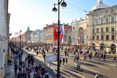 Demonstração no dia da vitória Fotos de Stock Royalty Free