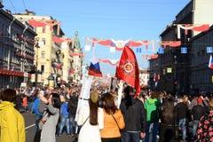 Demonstração no dia da vitória Foto de Stock