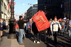 Demonstração no dia da vitória Fotos de Stock