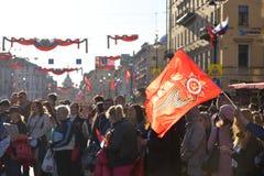 Demonstração no dia da vitória Fotografia de Stock Royalty Free