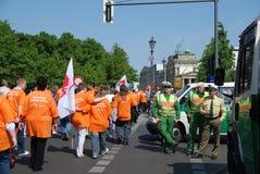 Demonstração no dia de maio Imagem de Stock Royalty Free