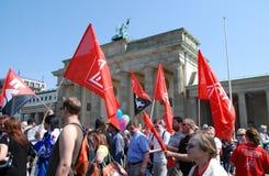 Demonstração no dia de maio em Berlim Imagens de Stock