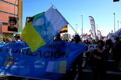Demonstração no 28o fevereiro O dia da Andaluzia 42 fotos de stock