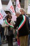 Demonstração Riano 22-OTT-2011 - ROMA ITALY foto de stock royalty free