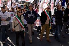 Demonstração Riano 22-OTT-2011 - ROMA ITALY imagens de stock